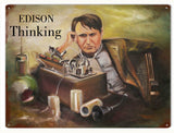Vintage Thomas Edison sign 9x12