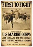 Vintage First To Fight US Marine Sign