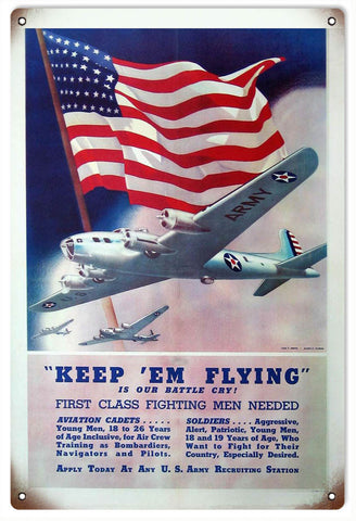 Vintage US Army Recruiting Sign