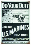 Vintage US Marines Sign