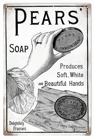 Vintage Pears Soap Sign