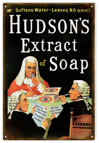 Vintage Hudsons Extract Soap Sign