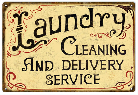 Vintage Laundry Cleaning Sign