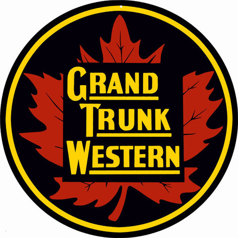 Grand Trunk Western Railroad Sign 14 Round