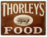 Vintage Thorleys Food Sign 9x12
