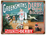Vintage Greensmiths Dog Biscuits Sign 9x12