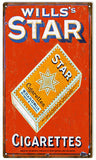 Vintage Star Cigarettes Sign 8x14