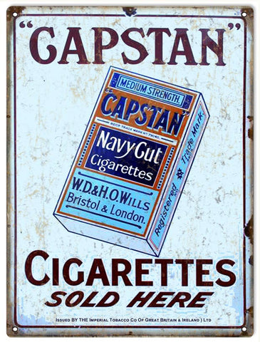 Vintage Capstan Cigarettes Sign 9x12