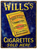 Vintage Wills Cigarettes Sign 9x12