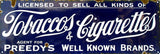 Vintage Tobaccos And Cigarettes Sign 6x18