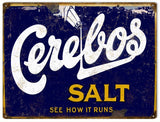 Vintage Cerebos Salt Sign 9x12