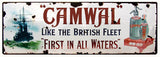 Vintage Camwal Waters Sign 6x18