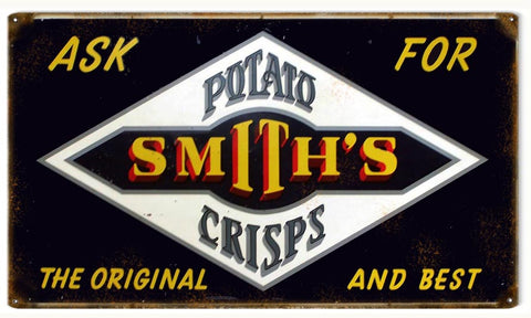Vintage Smiths Potato Crisps Sign 8x14