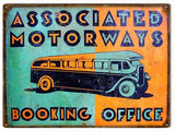 Vintage Motorways Sign 9x12