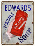 Vintage Edwards Soup Sign 9x12