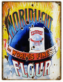 Vintage Worldlight Flour Sign 9x12
