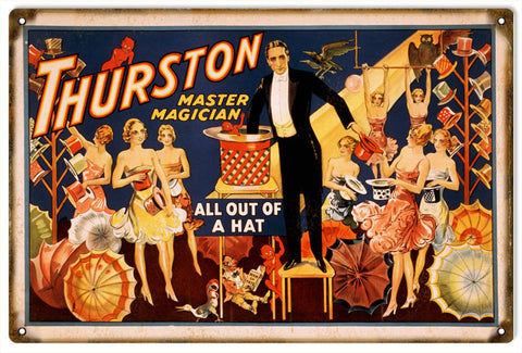 Vintage Thurston Magician Sign