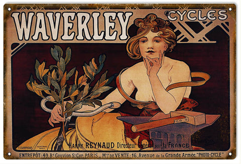 Vintage Waverley Bicycle Sign