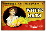 Vintage White Oats Sign