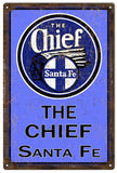 Vintage The Chief Railroad Sign