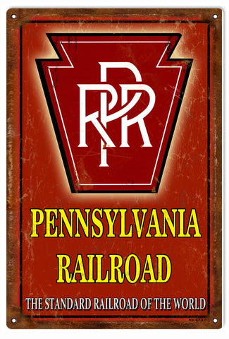 Vintage RPR Railroad sign