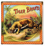 Vintage Tiger Brand Cigar Sign 12x12