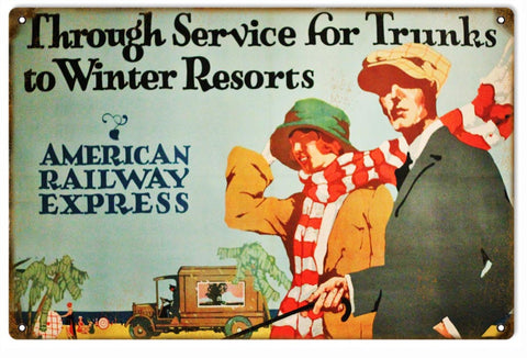 Vintage American Railway Express Sign