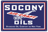 Socony Air Craft Oil Sign