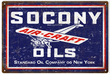 Vintage Socony Air Craft Oil Sign