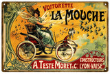 Vintage Voitorette La Mouche Bicycle Sign