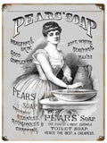 Vintage Pear Soap Sign 9x12