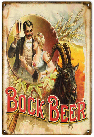 Vintage Bock Beer Sign
