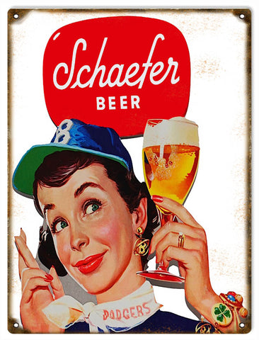 Vintage Schaefer Beer Sign 9x12