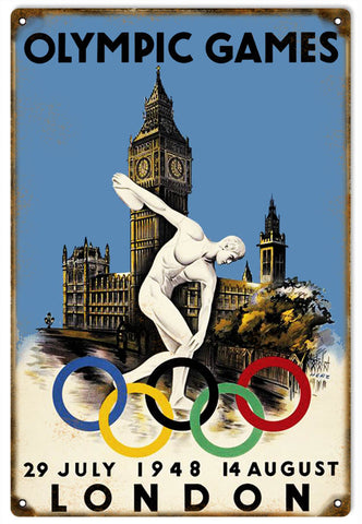 Vintage London Olympic Games Sign