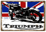 Vintage Triumph Motorcycle Sign