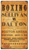 Vintage Sullivan VS Dalton Boxing Sign 8x14