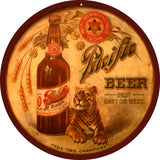 Vintage Pacific Beer Sign 14 Round