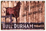 Vintage Bull Durham Cigar Sign