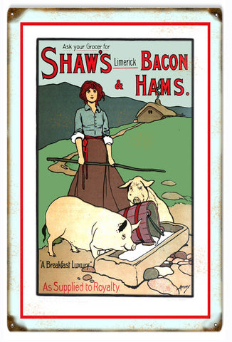 Vintage Shaws Pork Sign