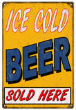 Vintage Cold Beer Sold Here Sign