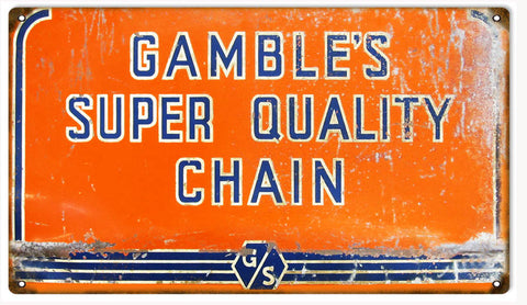 Vintage Gambles Quality Sign 8x14