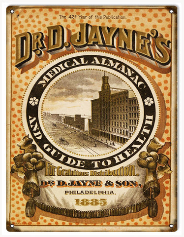 Vintage Dr D Jaynes Medical Sign 9x12