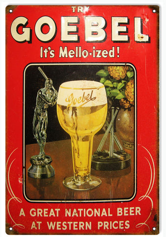 Vintage Goebel Beer Sign