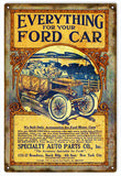 Vintage Ford Auto Parts Sign