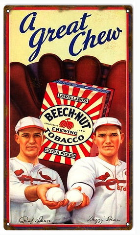 Vintage Beech Nut Tobacco Sign 8x14
