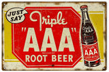 Vintage AAA Root Beer Sign