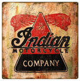 Vintage Indian Motorcycle Sign 12x12