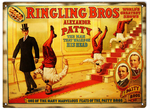 Vintage Ringling Bros Circus Sign 9x12