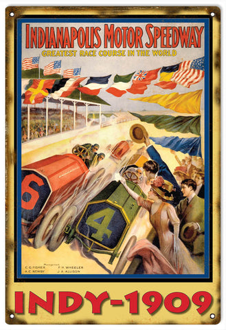 Vintage Indianapolis Motor Speedway Sign