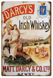 Vintage DArcys Irish Whiskey Sign